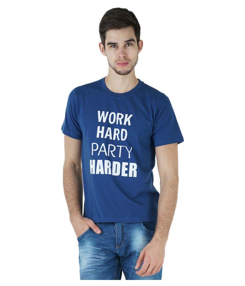 Kalt Blue Round T-Shirt
