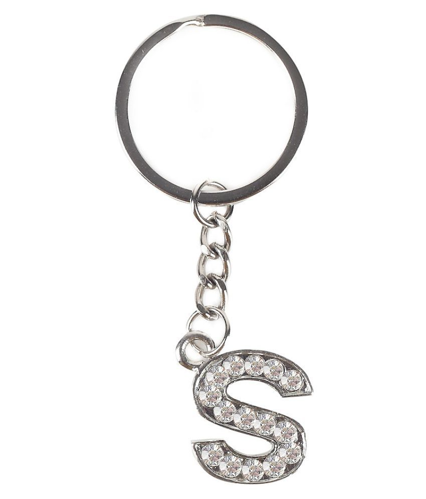 Swanvi Silver colored Stainless Steel Keychain