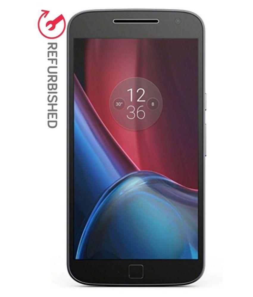 REFURBISHED Moto G4 Plus 32GB Black 3 GB RAM ( 6 Month Seller Warranty )