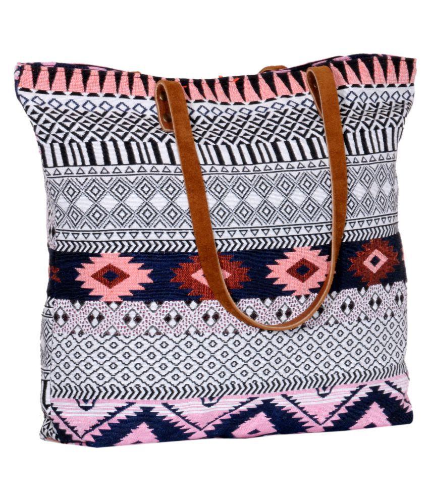 IndiWeaves Multi Cotton Tote Bag