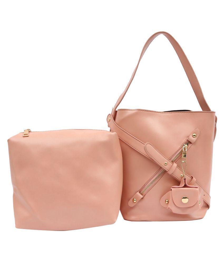 Pep Girls Pink P.U. Sling Bag