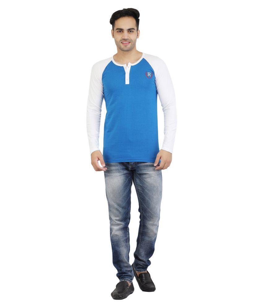 ROCKHARD Blue Henley T-Shirt