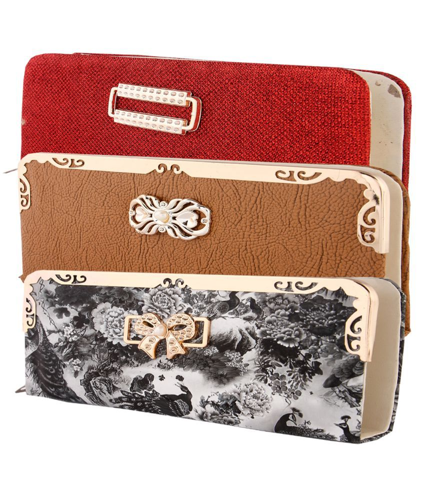 HARDY'S COLLECTION Multi Faux Leather Box Clutch