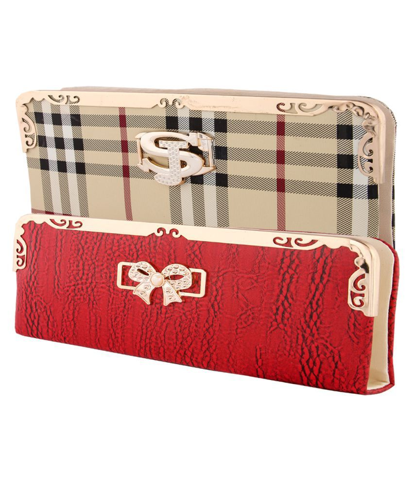 KRITIKA WORLD Multi Faux Leather Box Clutch