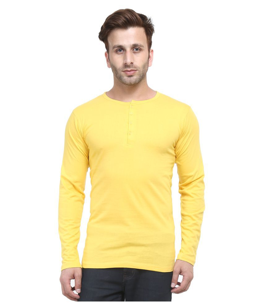 ACOMHARC INC Yellow Henley T-Shirt