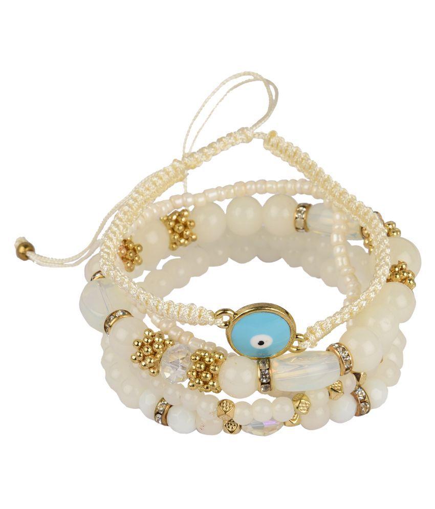 Diva Walk white alloy  bracelet