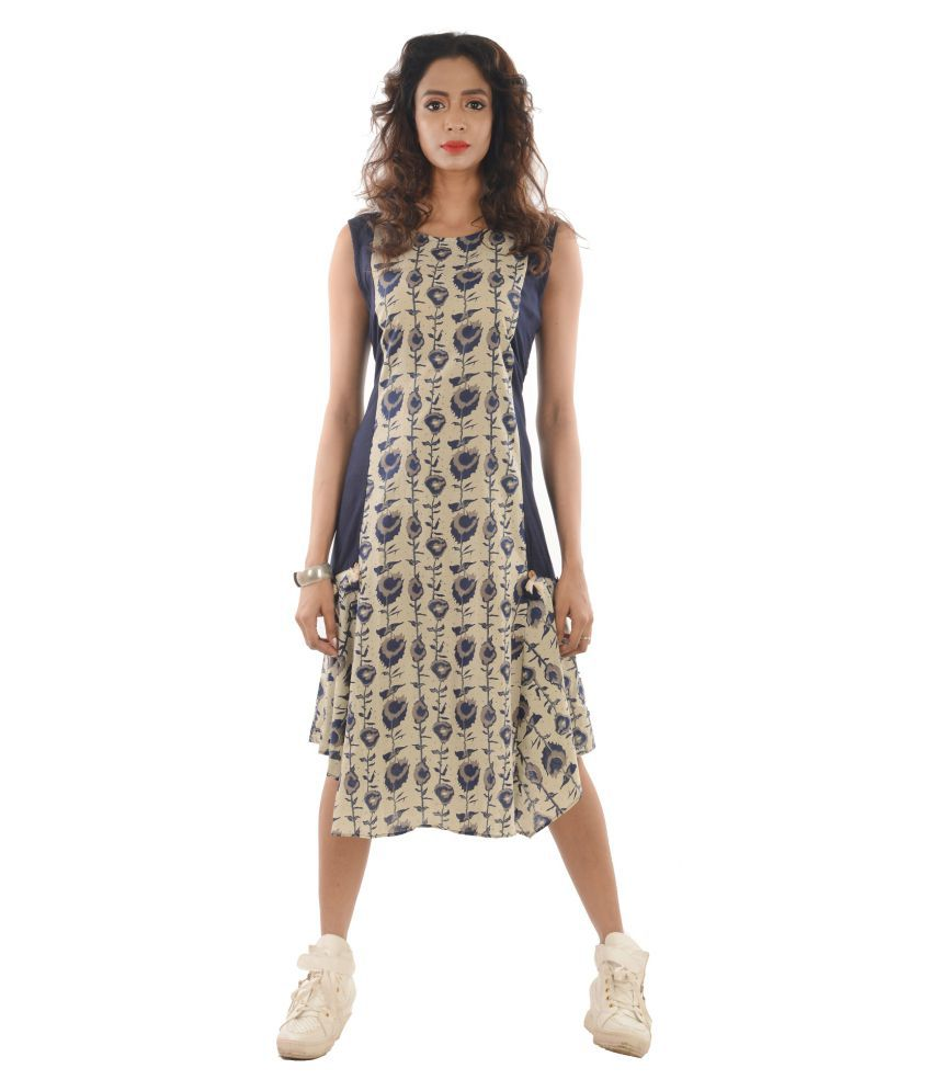Spectrum Cotton Fit And Flare Dress