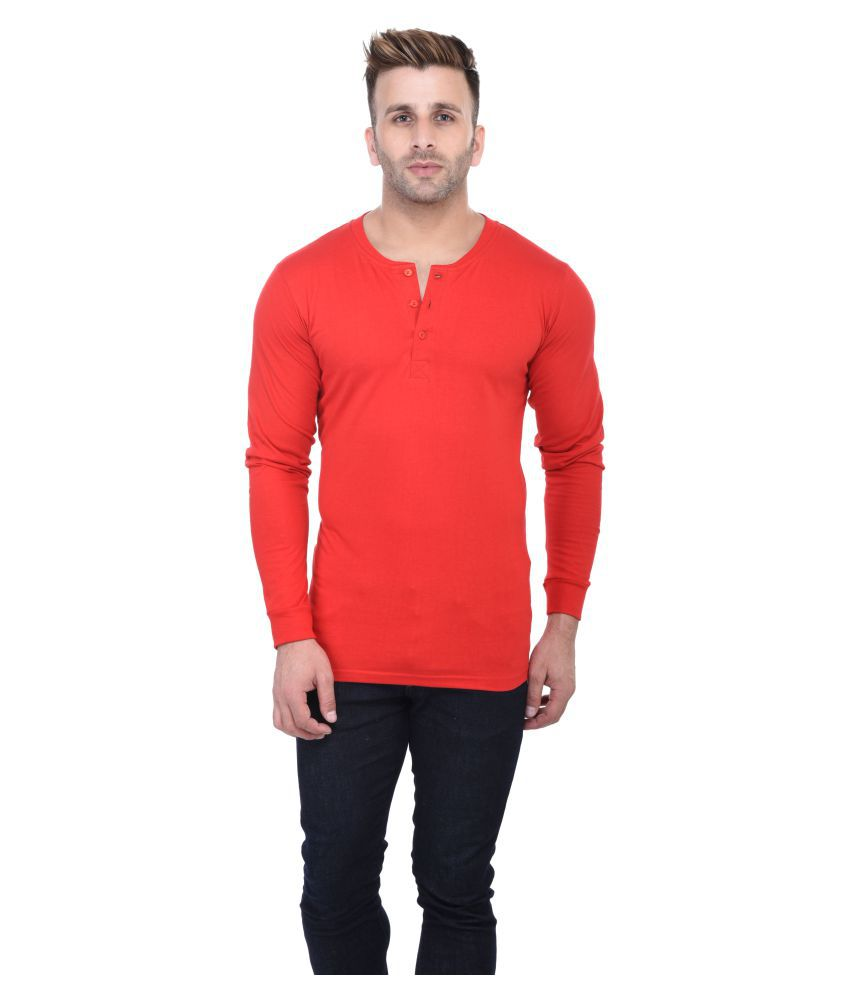 Acomharc Inc Red Henley T-Shirt