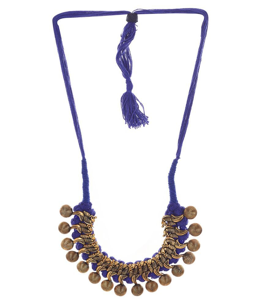 Jewels Dunia Brass material Golden Colour Necklace