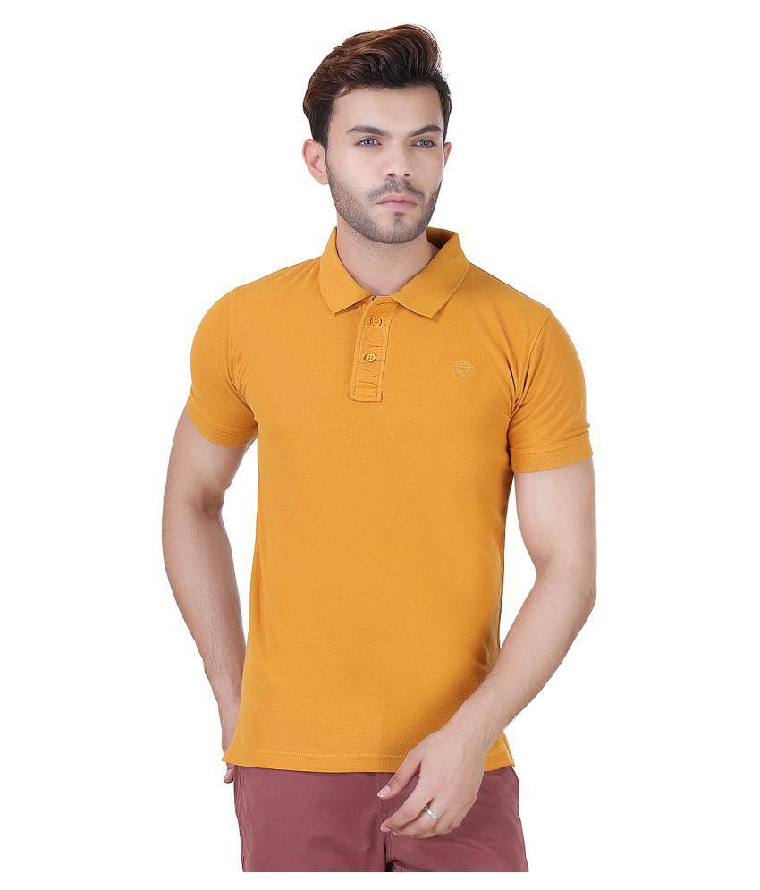 REALM Yellow V-Neck T-Shirt