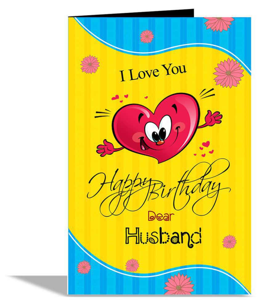 Happy Birthday Dear Husband Greeting Card Buy Online At Best Price In India