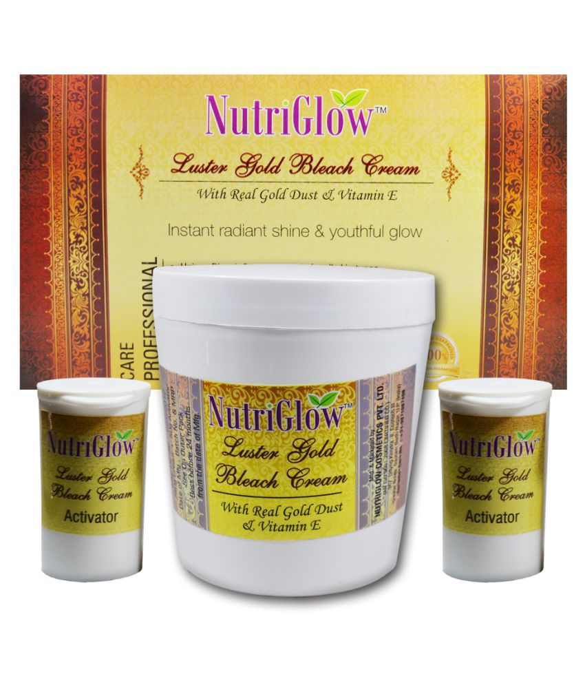 Nutriglow Luster Gold Bleach Cream With Real Gold Dust Moisturizer 300 gm