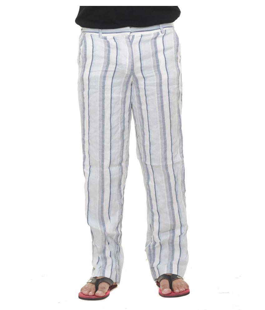 Twist Multicolored Slim -Fit Flat Trousers