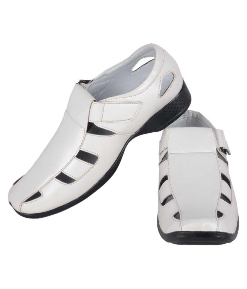1AAROW 074 White Sandals 1AAROW 074 White Sandals ...