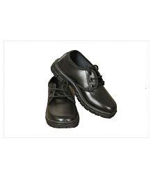 6Four Black Boys School Shoes