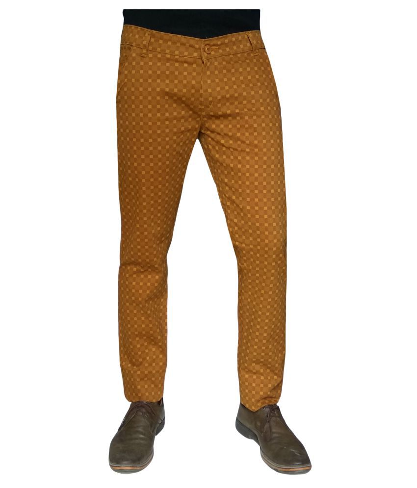 Damler Yellow Slim -Fit Flat Chinos