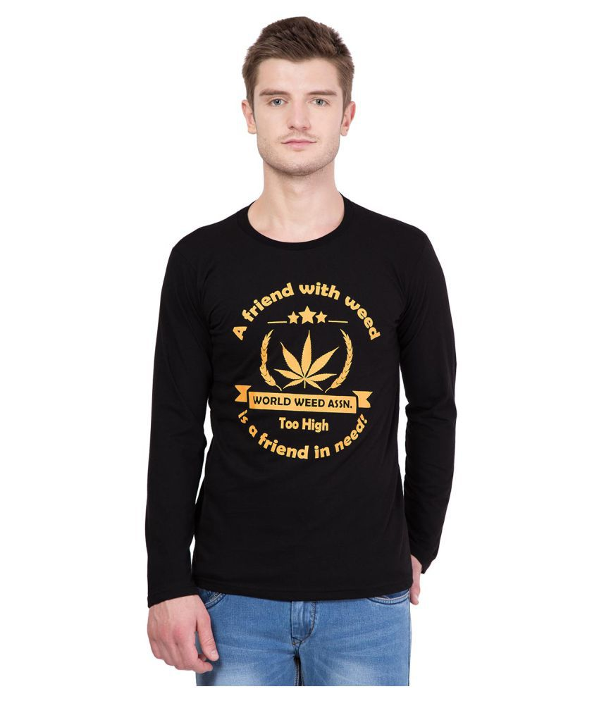 HashOne Clothing Co Black Round T-Shirt