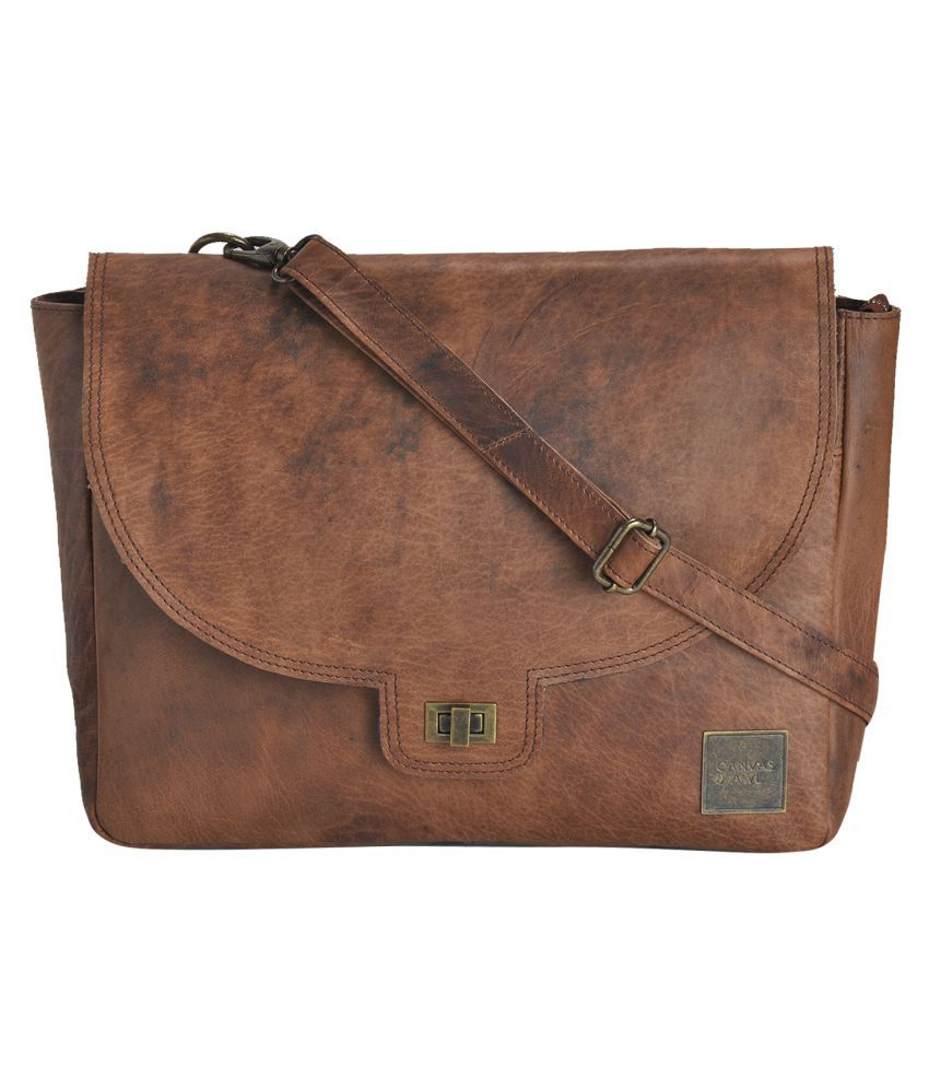 CANVAS & AWL Brown Laptop Sleeves