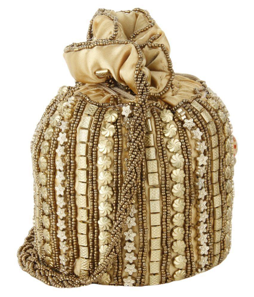 Style Villaz Gold Silk Potli