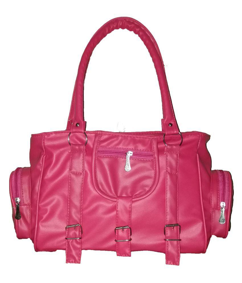 sk noor enterprises Pink P.U. Shoulder Bag