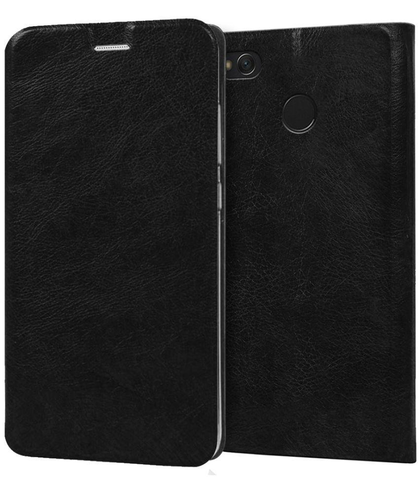 Xiaomi Redmi 4 Flip Cover by Knotyy - Black