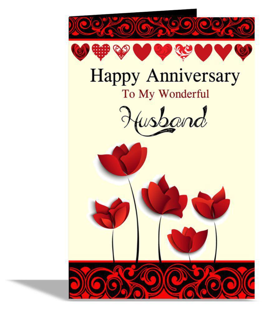 Happy Anniversary To My Wonderful Husband Greeting Card Buy Online