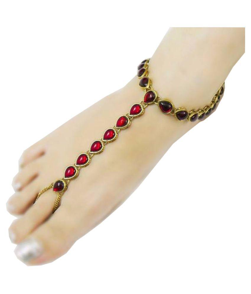 Super Shop Multi Color Designer Anklets for single one For Woman
