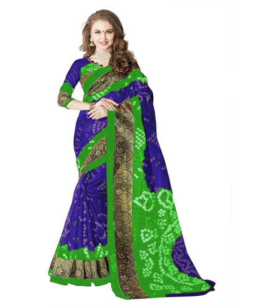 Kavya Fashion Multicoloured Bhagalpuri Silk Saree