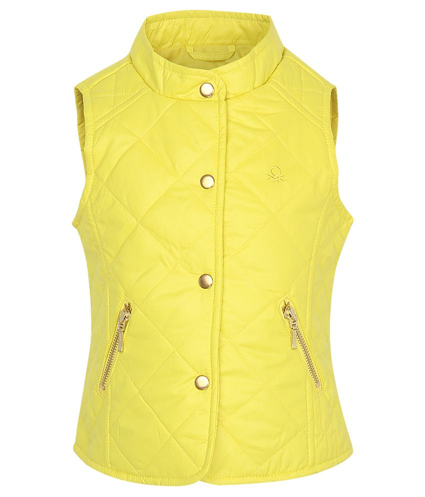 United Colors Of Benetton Yellow Girls-Jackets