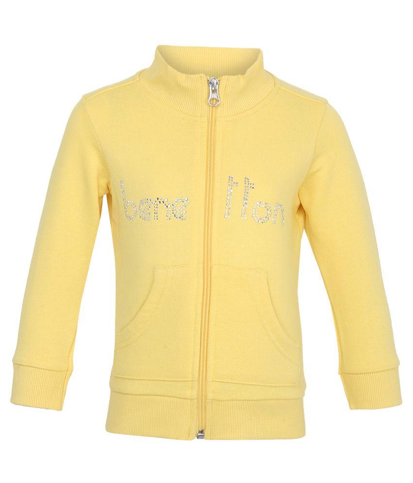 United Colors Of Benetton Yellow Sweatshirts