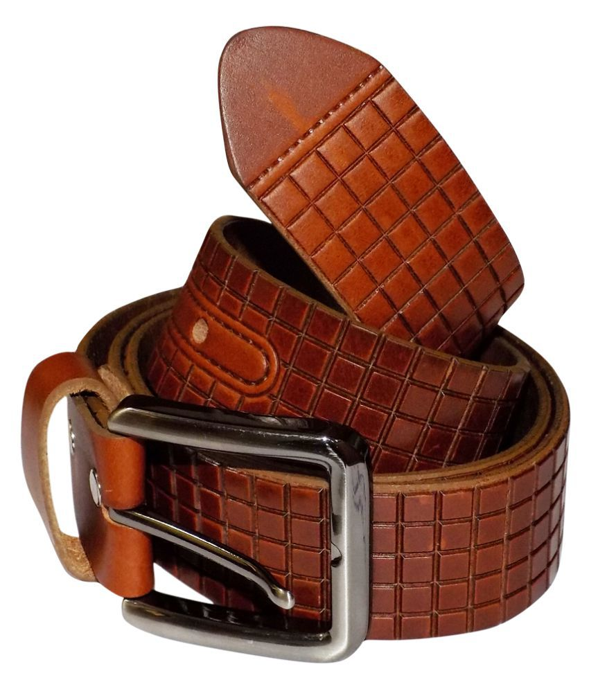 Style 98 Brown Leather Casual Belts