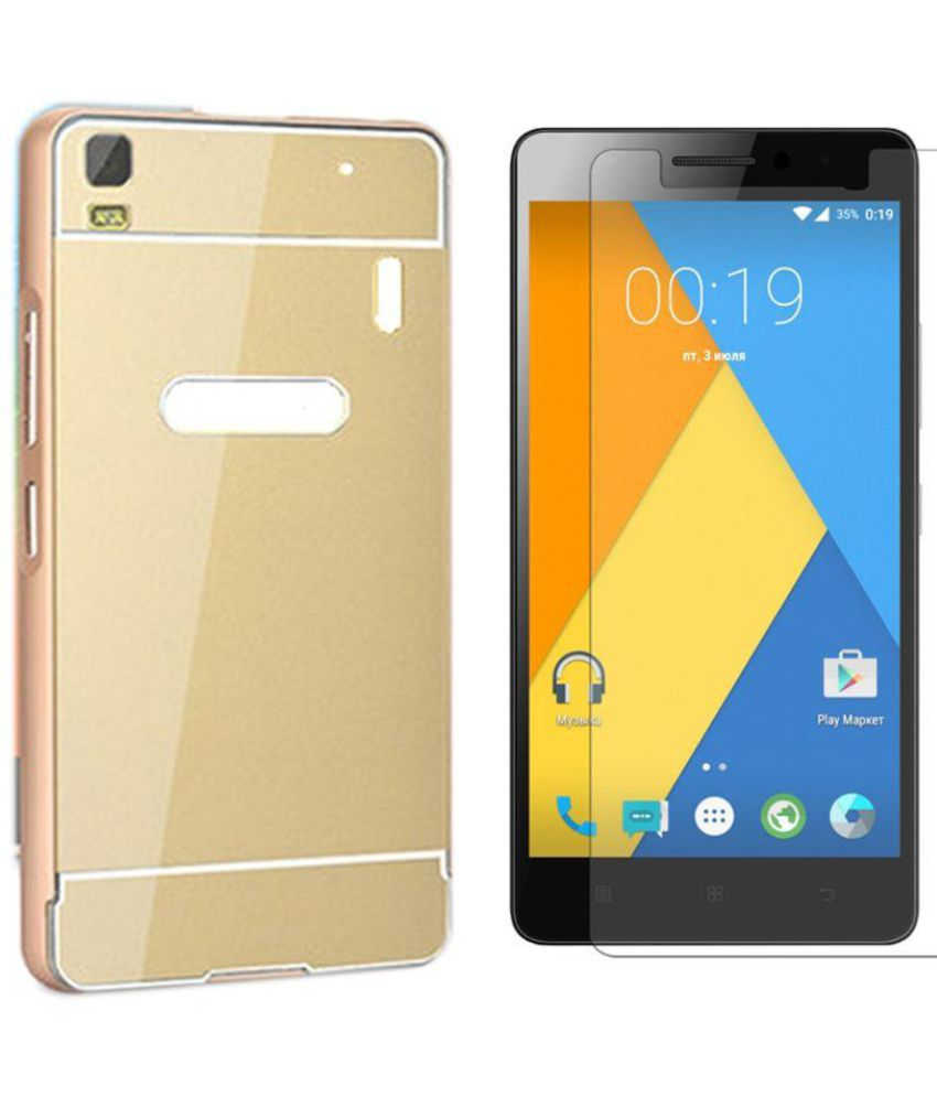 Lenovo K3 Note Mirror Back Covers Bright traders - Golden