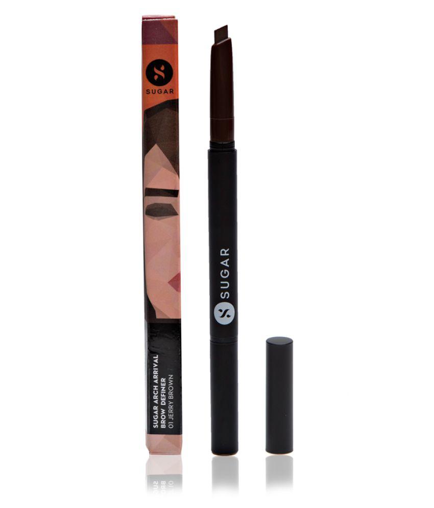 Sugar Cosmetics Brow Eyes Definer, 01 Jerry Brown (Medium Brown) 1 gm