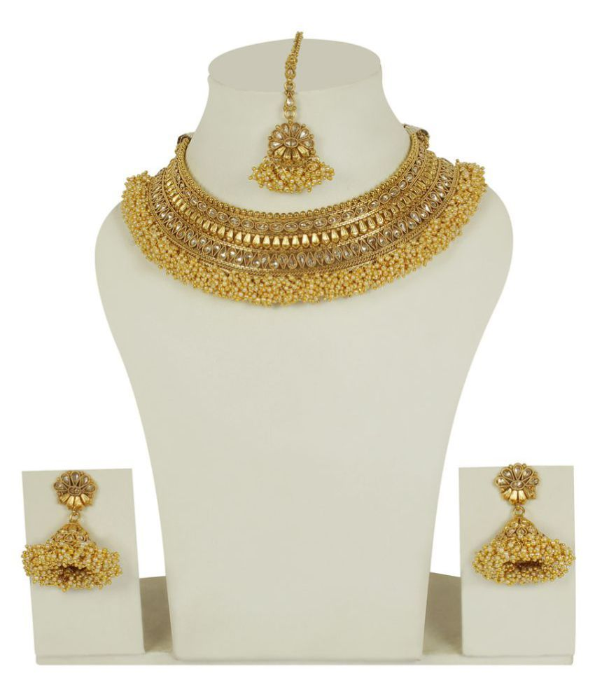MUCH MORE Barss Made Ethnic Collection Polki Necklace Set For Women