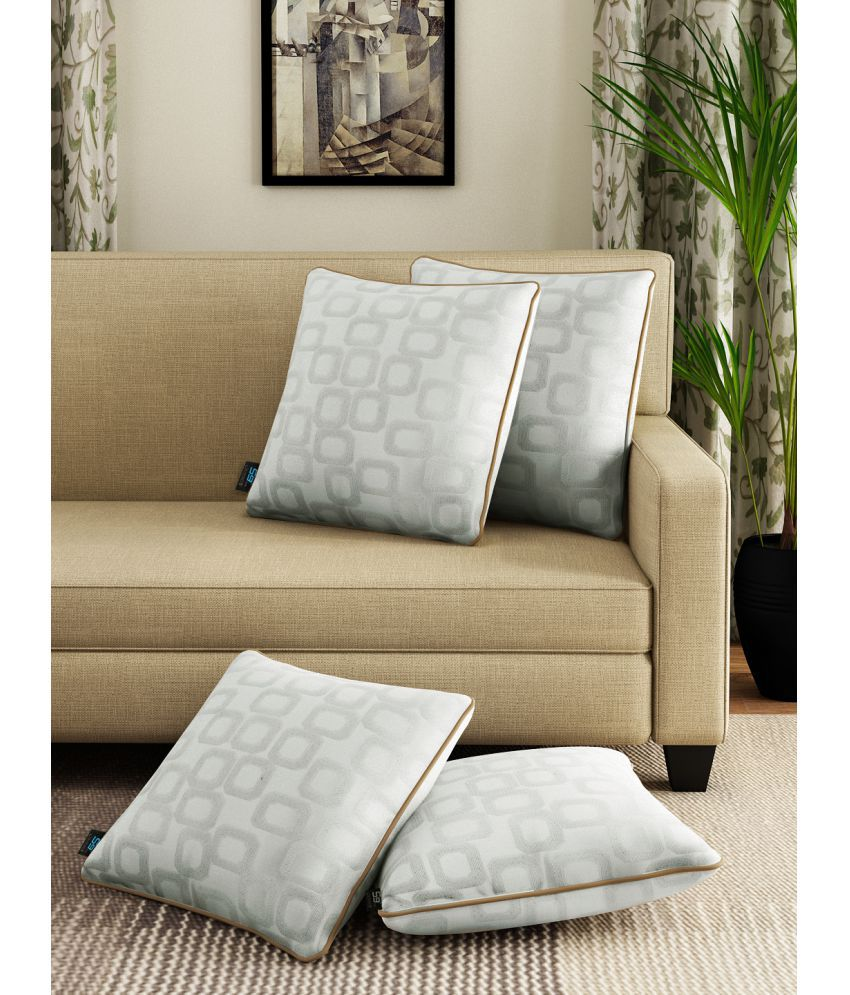 S9home by Seasons Set of 4 Polyester Cushion Covers 40X40 cm (16X16)