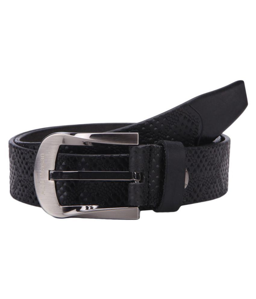 Aditi Wasan Black Leather Casual Belts
