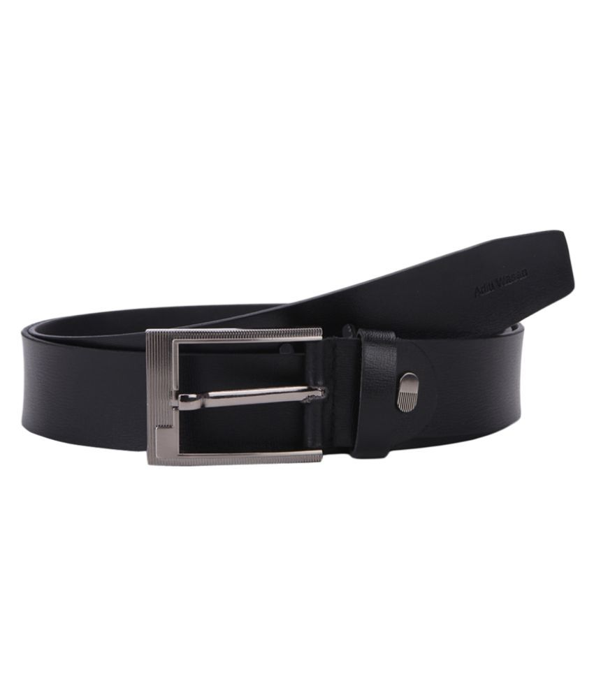 Aditi Wasan Black Leather Casual Belts