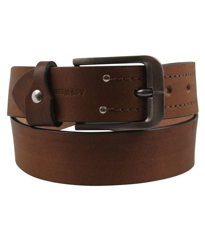 Aditi Wasan Brown Leather Casual Belts