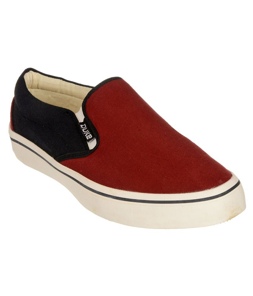 Duke Sneakers Maroon Casual Shoes free shipping cheap online MdyzhIb5FM
