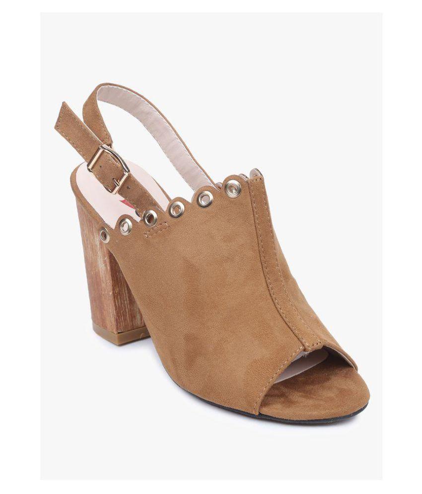 Lovely Chick Beige Block Heels