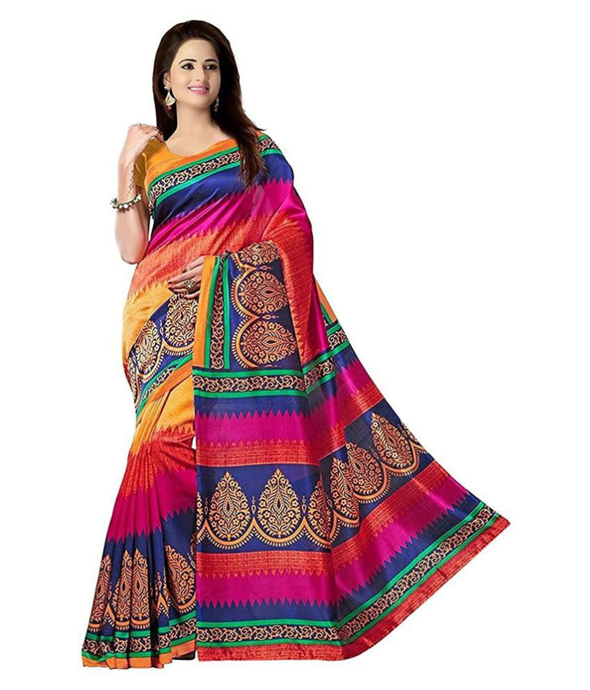 Radiance Star Multicoloured Bhagalpuri Silk Saree