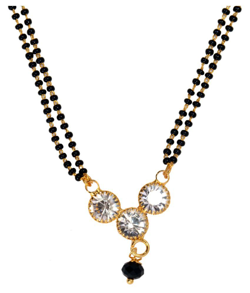 Mansiyaorange Traditional Short Length Mangalsutra for Women