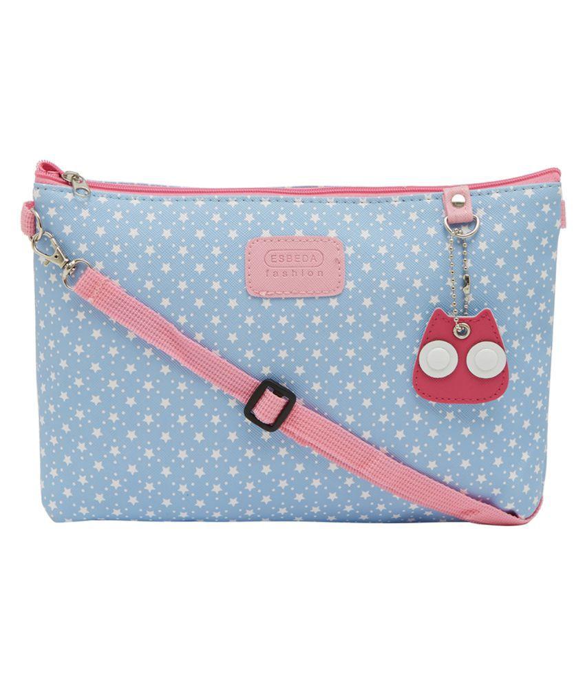 ESBEDA Blue Nylon Sling Bag