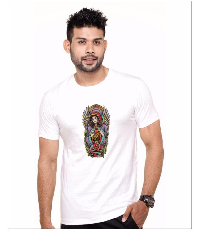 enux White Round T-Shirt