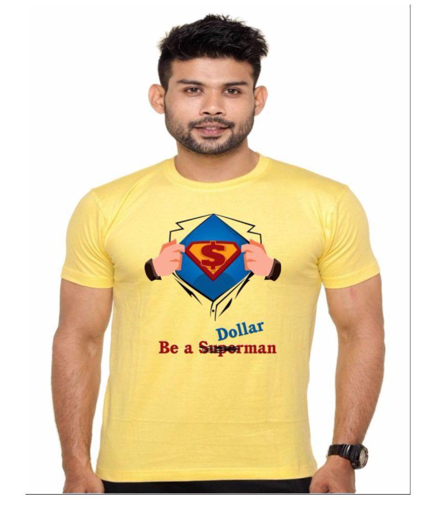 enux Yellow Round T-Shirt
