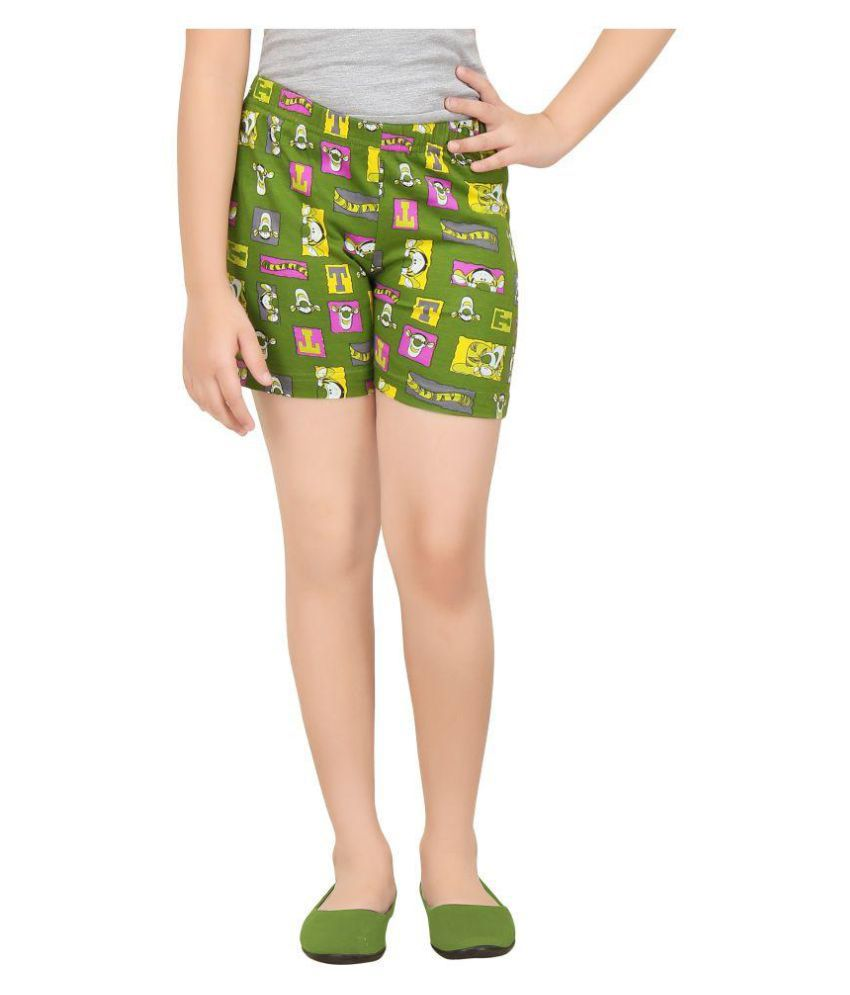 Girl's Cotton Night Wear Shorts By Red Ring