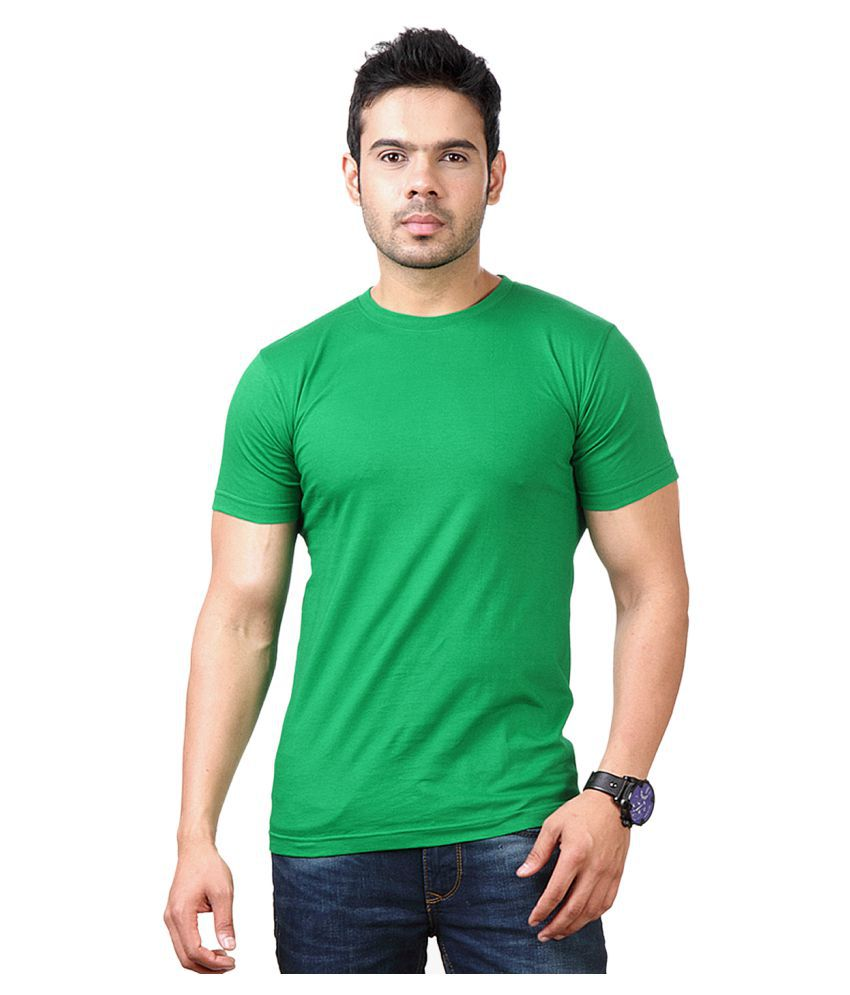 FUNKY GUYS Green Polyester T-Shirt Single Pack