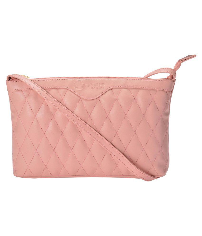 Carry Premium Cream P.U. Sling Bag