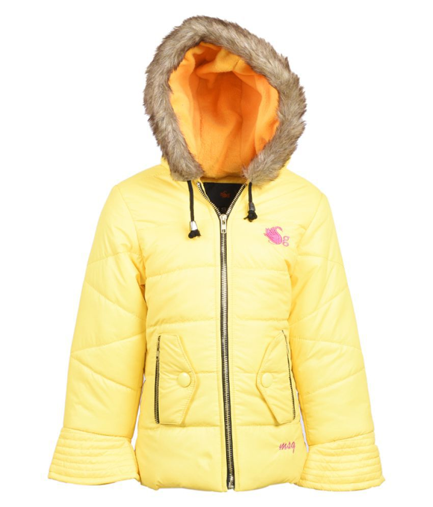 MSG Yellow Jacket For Girl's Kids