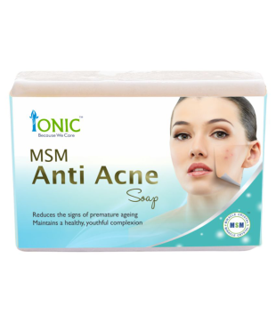 Ionic MSM-Organic Sulfur Anti Acne Face & Pimple Free Essence Soap Bar Soap  100 gm